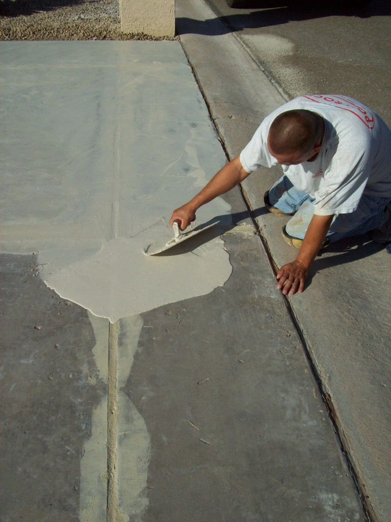 Resurfacing concrete phoenix resurfacing concrete for Cleaning oil off cement