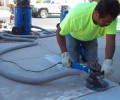 Grinding Concrete We grind floors, driveways, sidewalks, patios and slabs of all size. Trip hazard grinding, prepwork for stained, epoxy and acrylic overlay stamped concrete. Grinding concrete is what we do and we do it fast and clean with dust free grinding. Call James for all you concrete grinding needs....