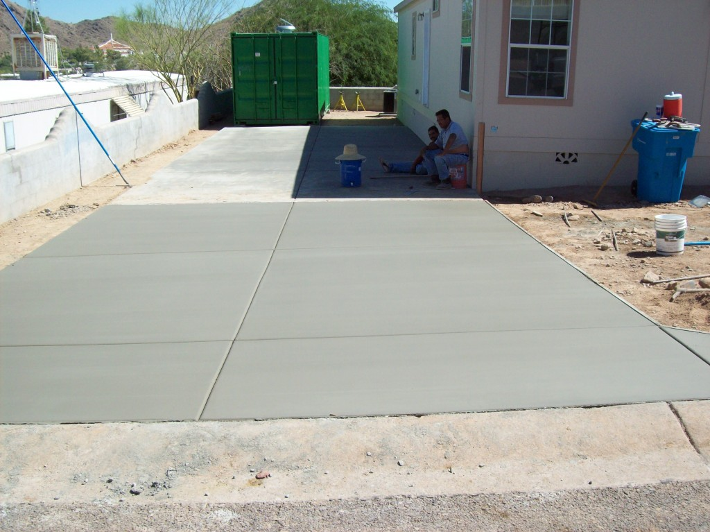 New Concrete Driveway Phoenix Arizona Concrete Repairman