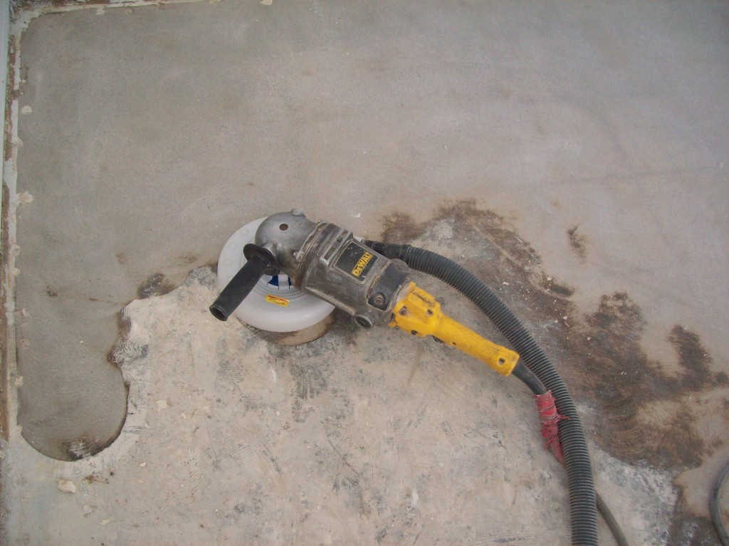 Linoleum flooring removal concrete repairman for Removing concrete floor