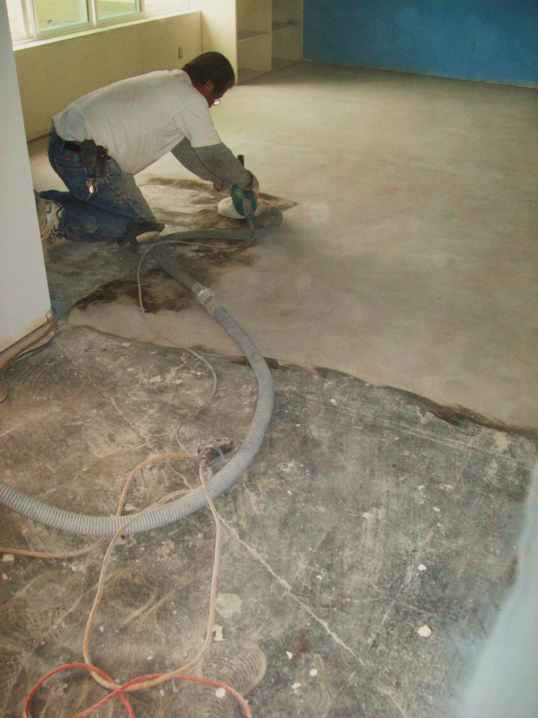 Linoleum flooring linoleum floor removal for Removing concrete floor