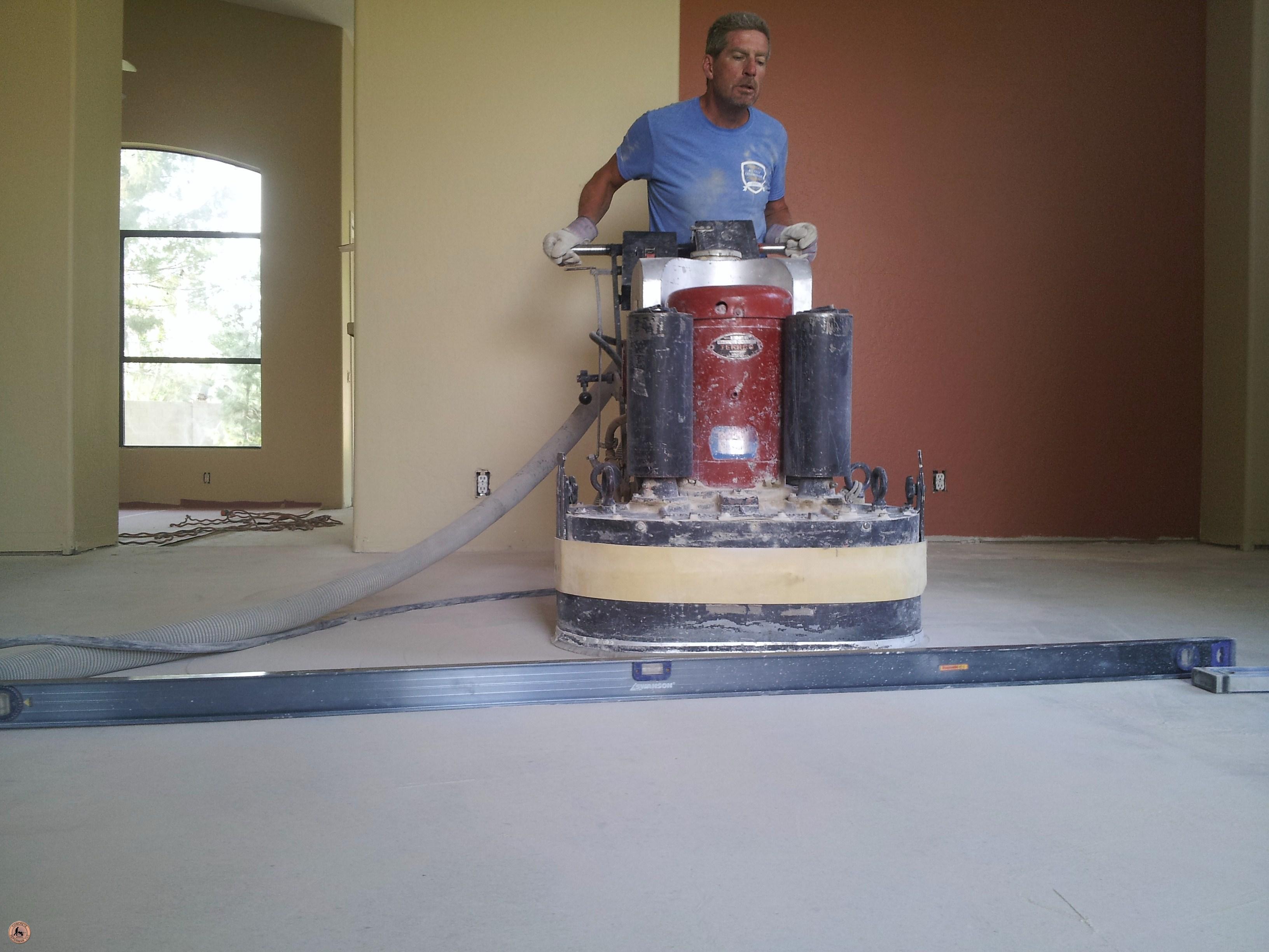 Floor grinding floor leveling concrete repairman for Concrete floor leveling